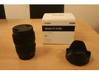 Sigma Art Lens for Canon EF - 35mm - F/1.4