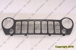 Grille Black Sport With Fog Jeep Liberty 2002-2007