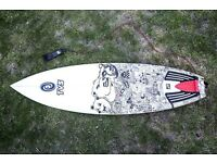 """Tunnel Vision 6'4"""" Bat Tailed Quad surfboard"""