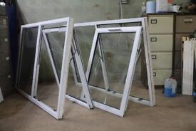 SET OF TWO UPVS WHITE DOUBEL GLAZED WINDOWS 1800mm x 1190mm/with sill 1220mm/