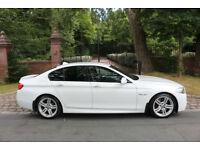 "13 PLATE BMW 520 DIESEL M SPORT AUTO F10 1 PREV OWN 59985 MILES 19"" ALLOYS WHITE"