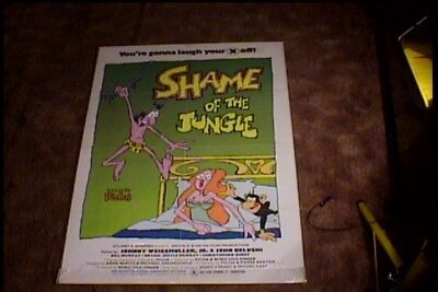 SHAME OF THE JUNGLE ORIG MOVIE POSTER SEXPLOITATION TARZAN FOR ADULTS - Tarzan Movie Adult