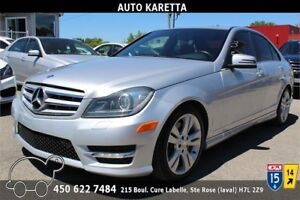 2012 MERCEDES C300 4MATIC/AWD, LUMIERE XENON, CLEAN CARPROOF