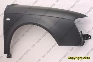 Fender Front Passenger Side (With Side Lamp Hole) Audi S4 2005-2008