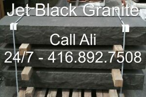 Jet Black Steps Ebony Black Granite Steps 4 5 6 7 8 10 Feet