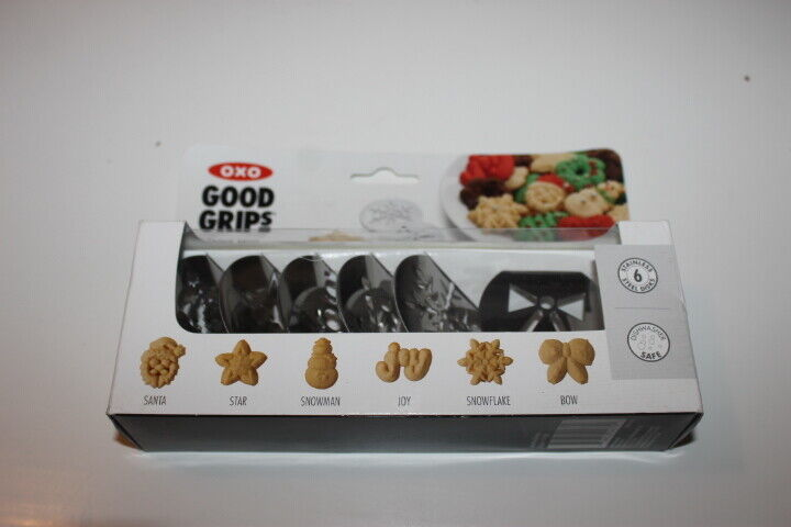 Set of 6 Christmas disks for the OXO Cookie Press NEW in box