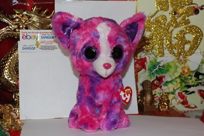 "TY BEANIE BOOS DAKOTA CHIHUAHUA BUDDY DOG.9"".JUSTICE EXCLUSIVE.2015.MWNMT"