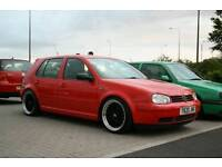 Breaking golf mk4 red all parts available bonnet wings headlights bumper