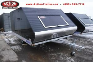 12' HYBRID SNOWMOBILE TRAILER W/ RAMP DOOR AND TRACTION MATS!