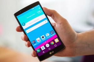 """In the box 5.5"""" Unlocked LG G4 with accessories"""