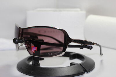 New Oakley Remedy Women's Sunglasses Polished Chrome/00 Grey Polarized (Oakley Running Sunglasses Womens)