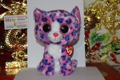 "TY BEANIE BOOS REAGAN THE LEOPARD.MEDIUM.9"".CLAIRE'S EXCLU.2015.MWNMT.NICE GIFT"