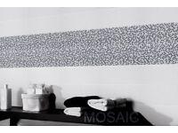 TILES JOBLOT 14: Brilliant white high gloss mosaic effect ceramic wall tiles 20 sqr mtrs