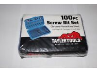Tayler Tools 100pc Screw Bit Set