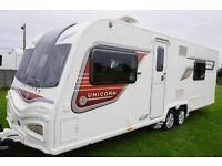 2014 Bailey Unicorn Cordoba 4 Berth Caravan Twin Single Beds