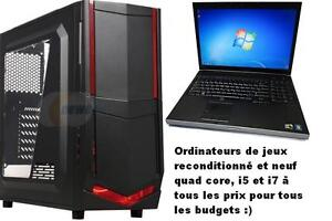ordinateur gamer GTX1050, laptop et tour i5 i7, 514-999-6996