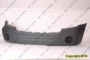 Bumper Front Textured-Gray Without Fog Moulding Without Tow Hook Dodge Durango 2007-2009
