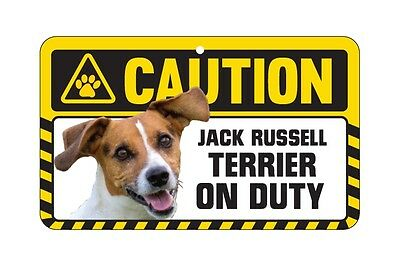 Dog Sign Caution Beware - Jack Russell