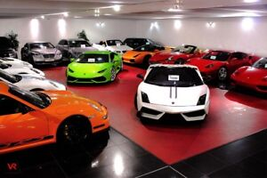 Indoor showroom for used car dealership