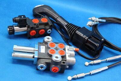 Hydraulic Kit Valve Solenoid Control Joystick Leader 40 Lmin 12v