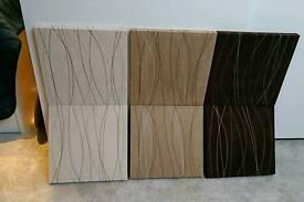 Set of 6nr pattern neutral colour canvas pictures