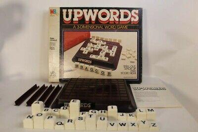 UpWords Board Game 1983 Original Milton Bradley Complete 3-D Word Scrabble-like
