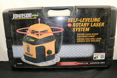 Johnson 40-6519 Horizontal Self-leveling Rotary Laser System Brand New