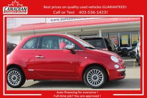 2012 Fiat 500 Lounge loaded leather