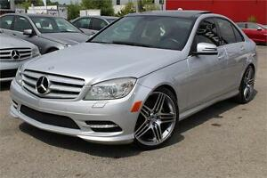 2011 MERCEDES C350 4MATIC/AWD NAVIGATION, CAMERA, TOIT PANORAMIC