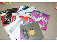 100 vinyl records of a various collection of hard house techno trance ect