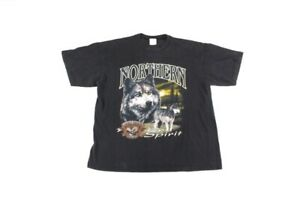 Vintage Distressed Wolf T Shirt