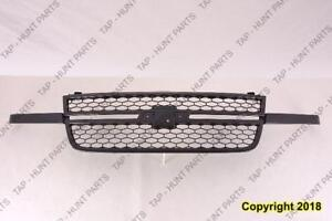 Grille Black Frame With Black Honeycomb Ss Model Chevrolet Silverado 2005-2007