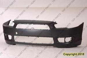 Bumper Front Primed Without Spoiler Hole Except Gts Model Mitsubishi Lancer 2008-2015