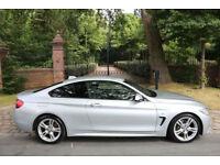 64 PLATE BMW 420d DIESEL M SPORT COUPE AUTO PRO NAV 51,350 MILES FBMWSH