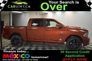 2017 RAM 1500 SPORT CREW 4X4 - LOW KMS**SUNROOF**NAV**LEATHER