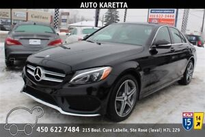2015 MERCEDES C300 4MATIC NAVI/CAMERA/TOIT PANORAMIC/MAGS AMG