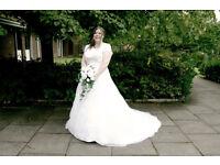 ballgown, sweep train wedding dress (white)