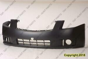 Bumper Front Primed 2.0L With Fog Light Hole Exclude Sr Model CAPA Nissan SENTRA 2007-2009
