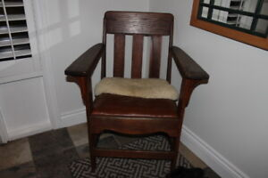 Antique Wood Bench & Chair
