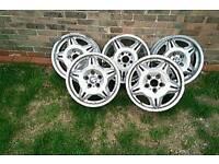 "BMW M3 E36 Motorsport style 17"" alloy wheels"