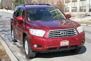 2008 Toyota Highlander 4WD 7Seat w/ BACKUP CAM+DVD +POWER SEATS