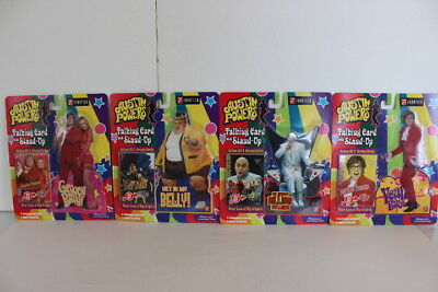 Talking Stand - AUSTIN POWERS Set Of 4 Talking Cards with Stand Ups Series 1 FANATICS 1999 NIP