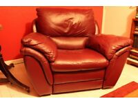 real leather recliner chair, big armchair, american style