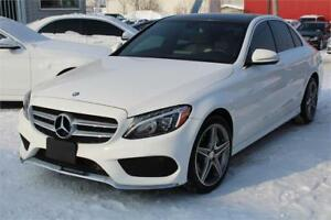 2015 MERCEDES C300 4MATIC SPORT, NAVI, CAMERA, TOIT PANORAMIC