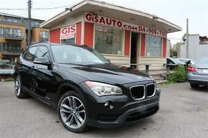 """2013 BMW X1 28i SPORT NAVI TOIT PANO CUIR ROUGE MAGS 18"""""""