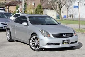 2004 INFINITI G35 Coupe 6 M/T - No Accidents - Low KMs