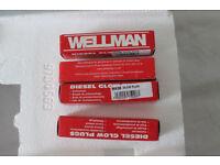 Delica Pajero other 4M40 4M40T 2.8TD Mitsubishi Wellman Glow plugs X 4 New boxed. W436