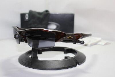d32d359b68d New Oakley Flak Jacket 1.0 Sunglasses Polished Rootbeer w Grey Lens 42-296
