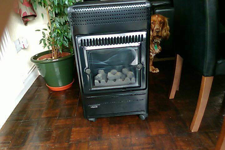 Lifestyle living flame portable heater