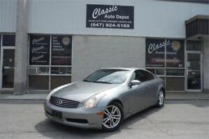 2006 INFINITI G35 Coupe Sport**6 SPEED MANUAL**CERTIFIED**